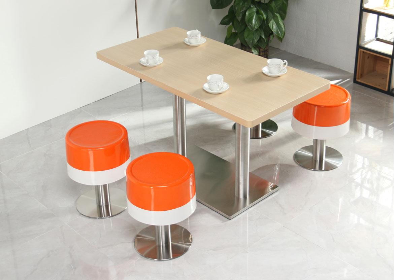 �L沙快餐�d肯德基餐桌椅�M合小吃奶茶甜品�h堡店冬瓜凳玻璃��A凳桌椅